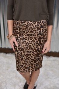 Leopard Perfectly Poised Pencil Skirt