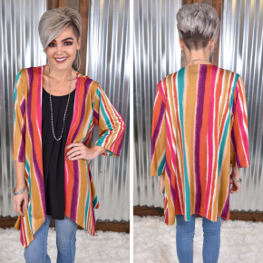 Vertical Striped Kimono *Final Sale*
