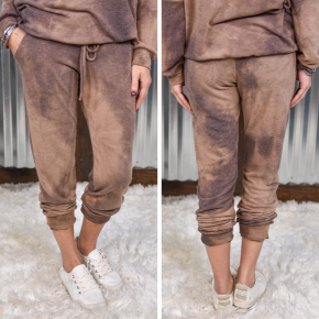 Brown Tye Dye Joggers