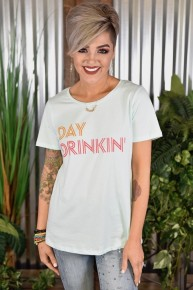 CLEARANCE Day Drinkin Crewneck Tee