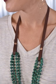 Brown Leather Essential Bead Necklace Extender