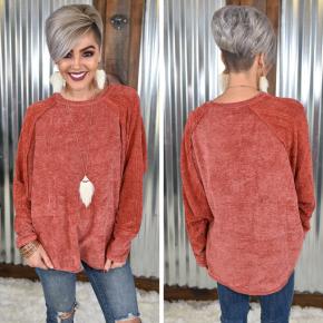 Crimson Velvet L/S Pullover