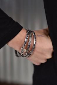 Silver Stretch Bracelet Set