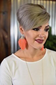 Neon Coral Thread Tassel Earrings