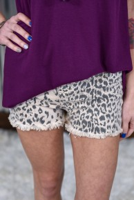 Kan Can Leopard High Rise Shorts