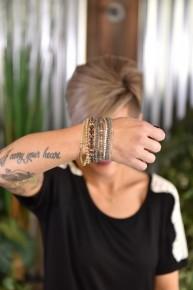 Grey Stackable Beaded Bracelets