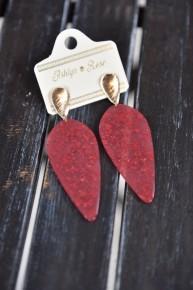 Scarlet Drop of Perfection Earrings