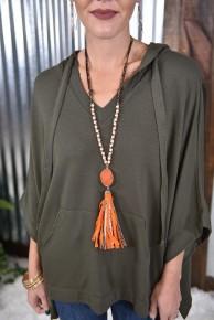 Orange Changing Leaves Necklace