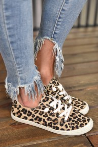 Leopard Chloe Canvas Sneakers