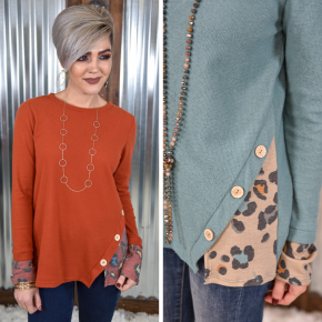 Thermo Leopard Contrast Top *Final Sale*