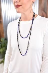 Black Shimmering Beaded Necklace