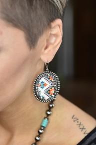 Aztec Silver Earrings