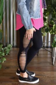 Black Side Cut Out Leggings
