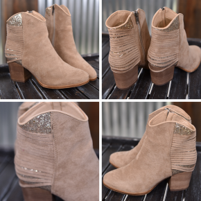 Taupe Gypsy Bootie