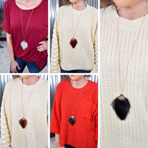 Rhinestone Thread Tassel Necklace