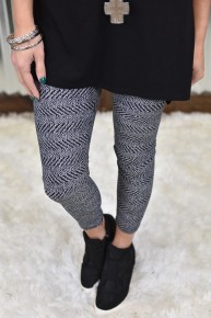 Subtle Chevron Yoga Leggings