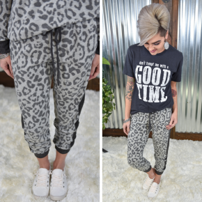 Simply Obsessed Leopard Joggers