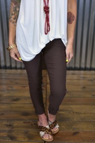 Cocoa Hyperstretch Skinny Pants