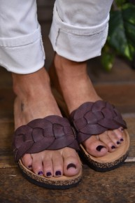 Wine Broadwalk Sandals