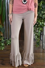 Mocha Ruffled Pants