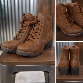 Tan Chief Lace Up Boot