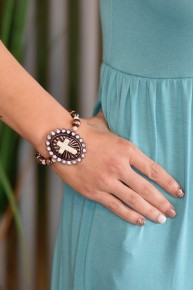 Ivory Cross Stretch Bracelet