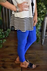 Cyan Blue Hyperstretch Skinny Pants