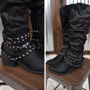 Black Dixie Tall Boot
