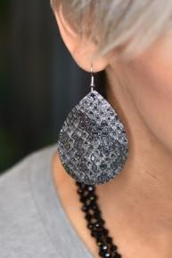 Black Snake Shine On Earrings
