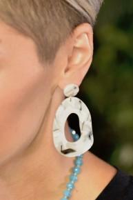 Black & White Cutout Drop Earrings