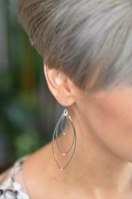 Silver Cloie Earrings