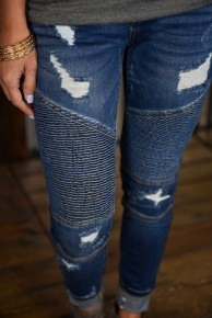 Judy Blue Destroyed Moto Skinny Jeans