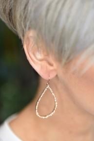 Peach Teardrop Earrings