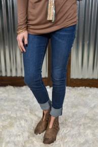 L & B Super Long High Rise Skinny Jean