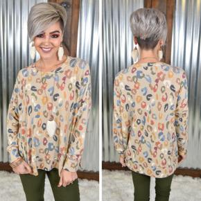 Taupe Leopard Sweatshirt