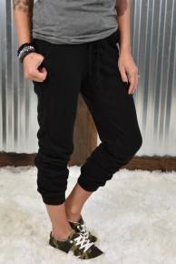 Black Knit Joggers