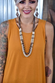 Ivory & Copper Layered Necklace
