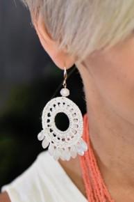 White Daydream Believer Earrings