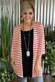 Red Striped Kimono