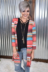 Red Serape Cardigan *Final Sale*