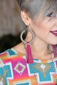 Magenta Rio Bravo Earrings