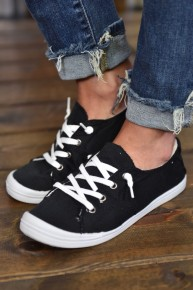 Black Chloe Canvas Sneakers