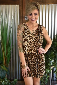 Meet Me for Brunch Leopard Romper