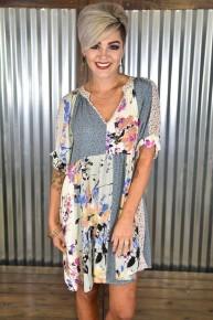Sage Ruffle Sleeve Babydoll Dress