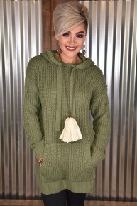 Olive Hooded Sweater