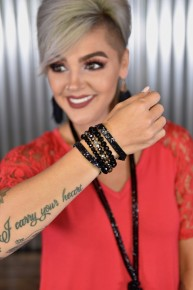 Black Glitter Put Together Bracelet Set