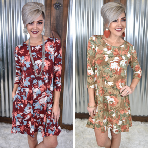 Floral Dress with Pockets *Final Sale*