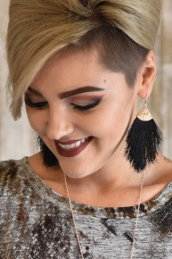 Black Thread Tassel Earrings