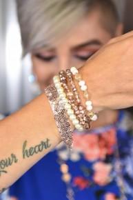 Rose Sequins Put Together Bracelet Set