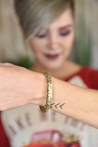 Gold Textured Bracelet